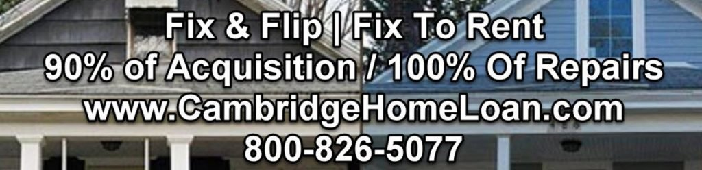 fix and flip home loan